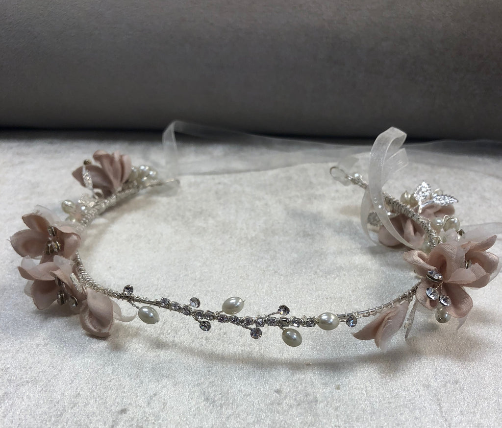 Flexible Faux Floral Headband - The Persnickety Bride