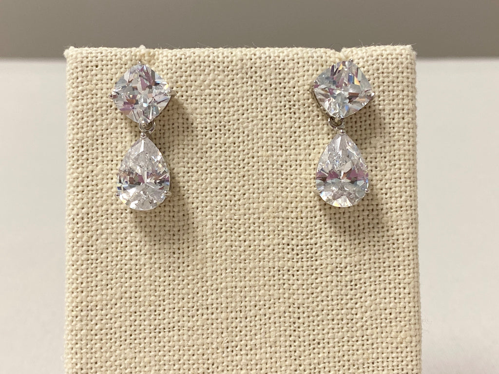 Mini Teardrop Crystal Earrings - The Persnickety Bride