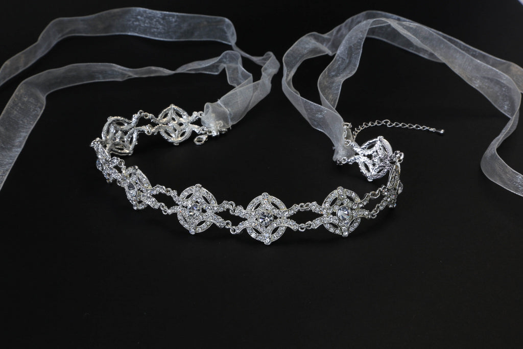 Stunning Crystal Rhinestone Headband - The Persnickety Bride