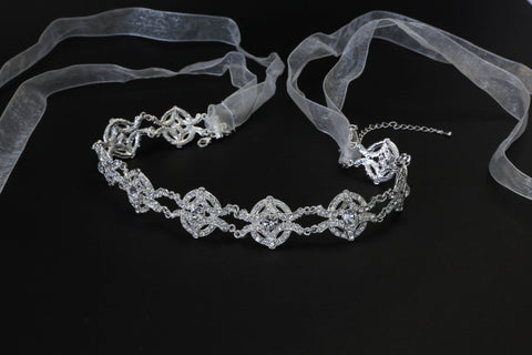 Swirls in Pearls and Crystal Headband