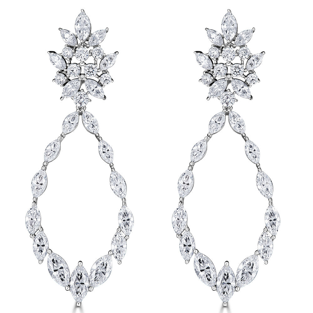 Marquise Statement Earrings - The Persnickety Bride