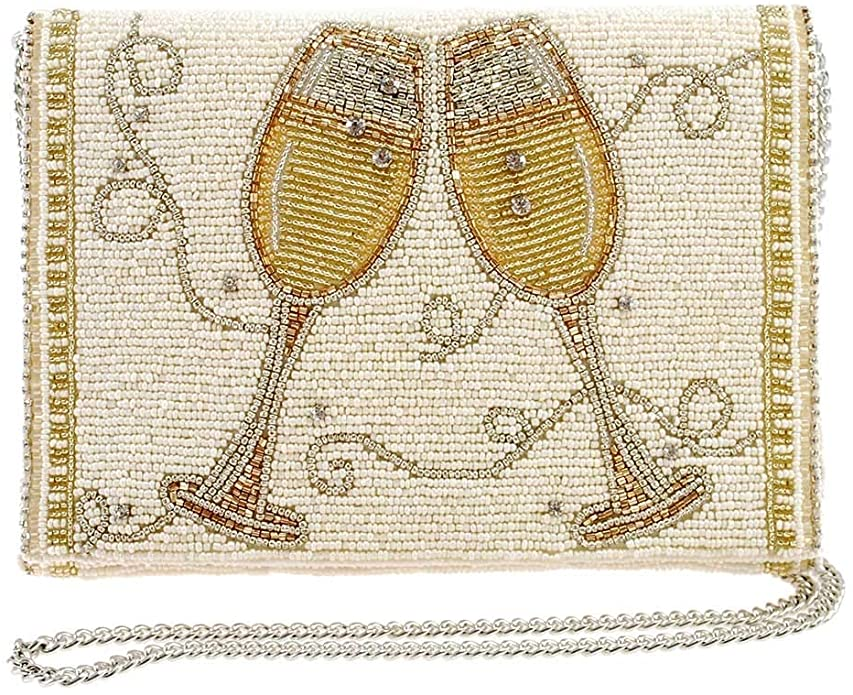 Champagne Taste Beaded Embroidered Handbag - The Persnickety Bride