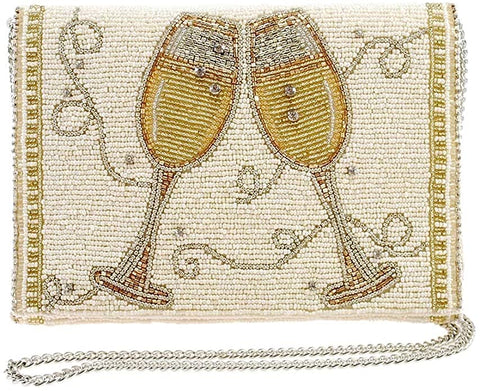 Embroidered Monogram Money Bag