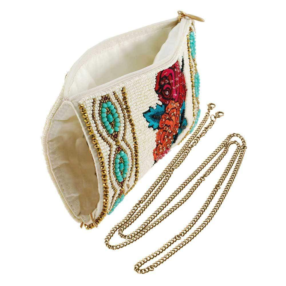 Frida's Flowers Beaded Embroidered Phone Bag - The Persnickety Bride