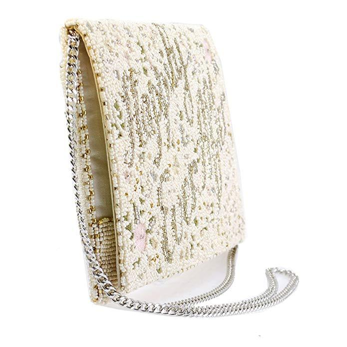Happily Ever After Beaded Embroidered Handbag - The Persnickety Bride