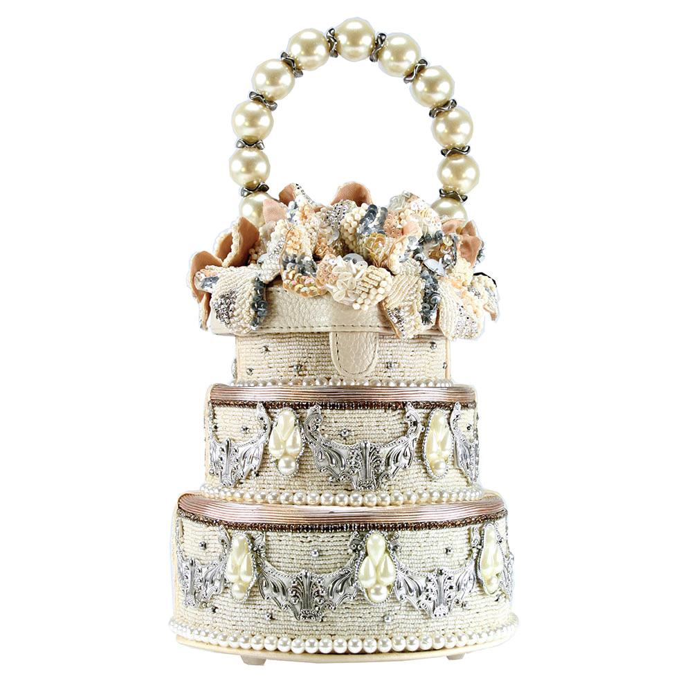 I Do Cake Beaded Embroidered Handbag - The Persnickety Bride