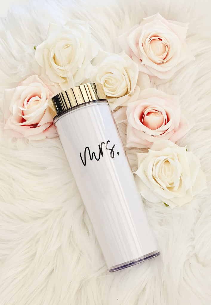Mrs. Heart Tall Tumbler - The Persnickety Bride