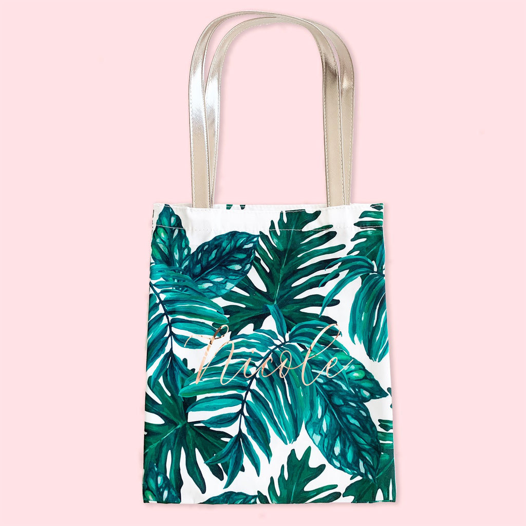 Palm Leaf Tote - The Persnickety Bride