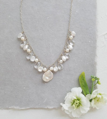 Asymmetric Pearl Necklace
