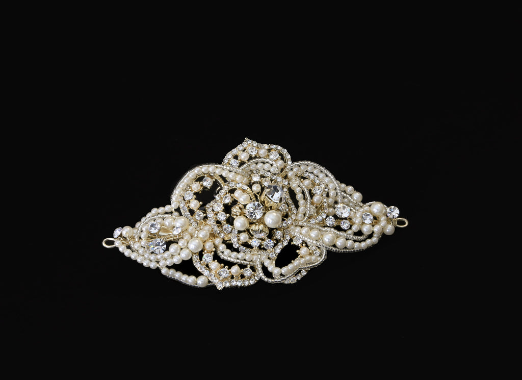 Pearl & Rhinestone Hair Clip - The Persnickety Bride