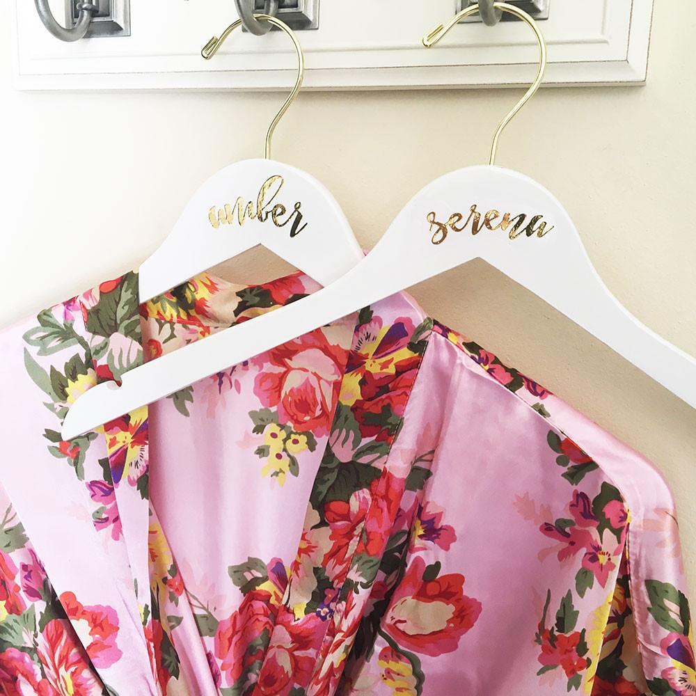 Personalized Bridesmaid Hanger - The Persnickety Bride