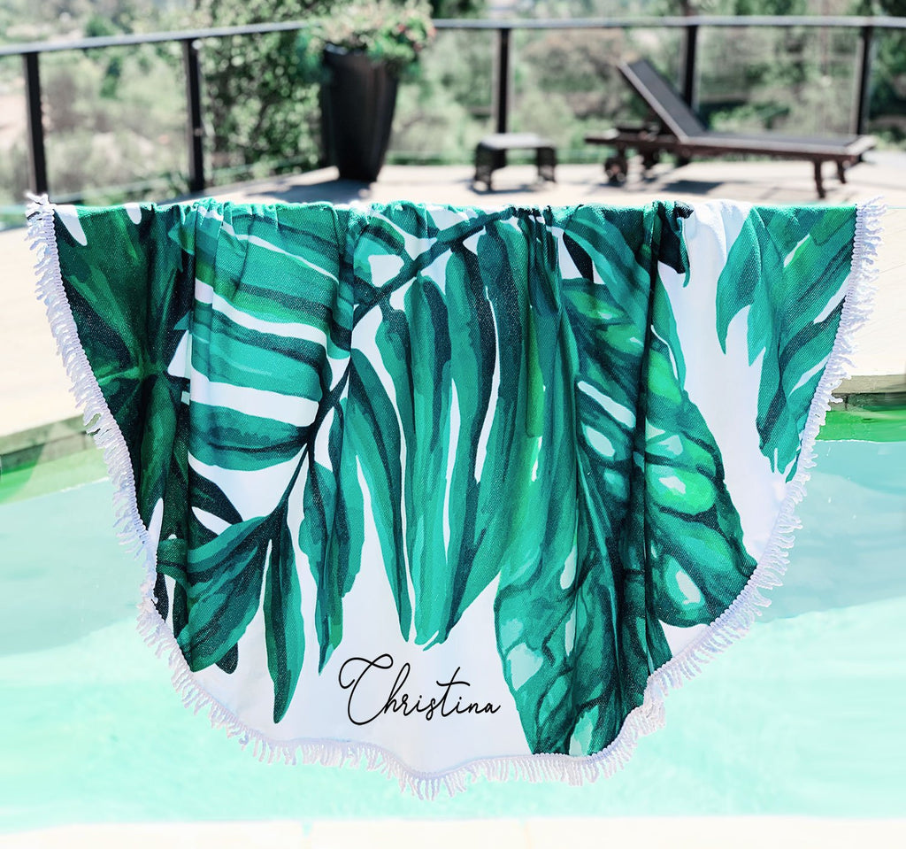 Personalized Palm Leaf Towel