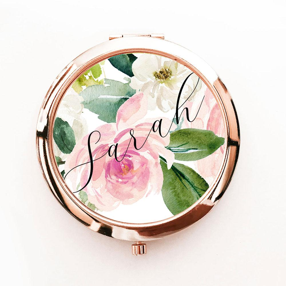 Personalized Spring Rose Compacts - The Persnickety Bride