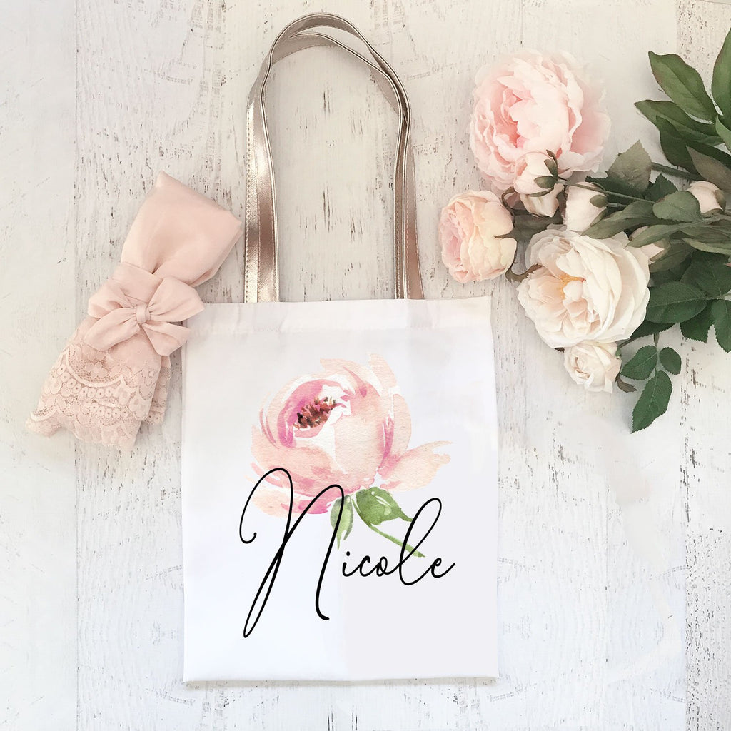 Personalized Spring Rose Tote - The Persnickety Bride