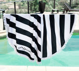 Personalized Striped Towel - The Persnickety Bride
