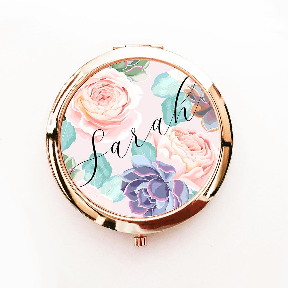 Personalized Succulent Compacts - The Persnickety Bride
