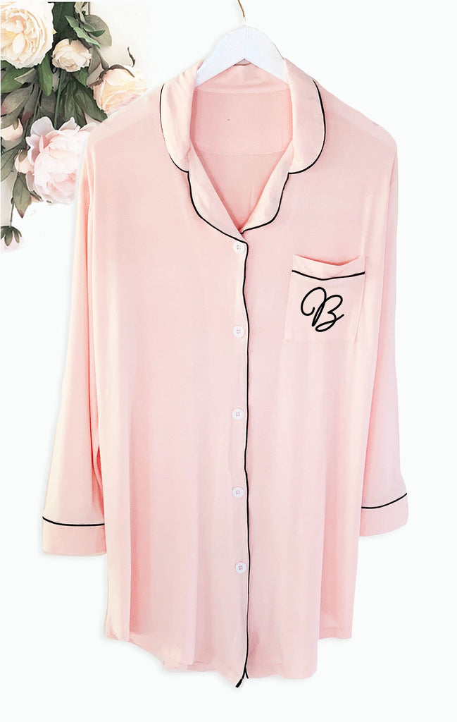 Monogram Sleep Shirt - The Persnickety Bride