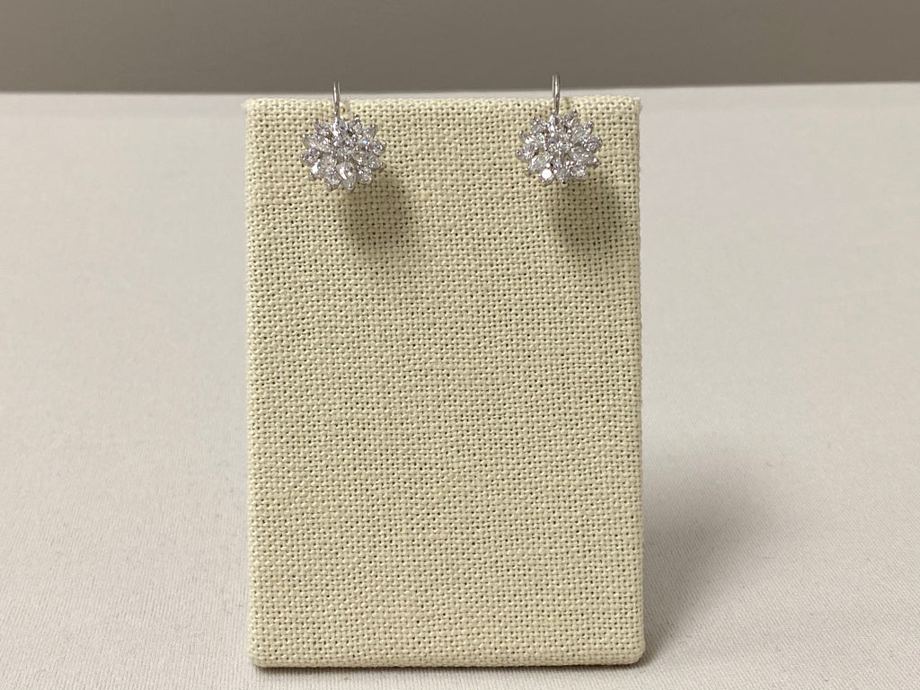 Silver Starburst Earrings - The Persnickety Bride