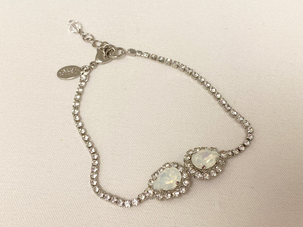 Sparkle two stone bracelet - The Persnickety Bride