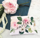 Spring Rose Cosmetic Bag - The Persnickety Bride