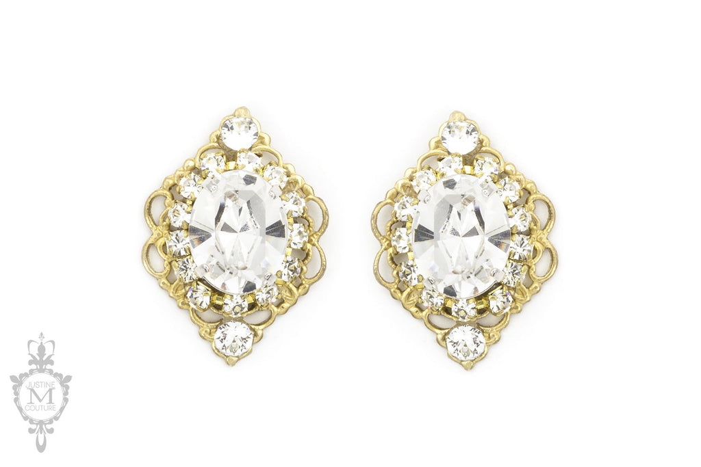 Swarovski Rhinestone Stud Earrings