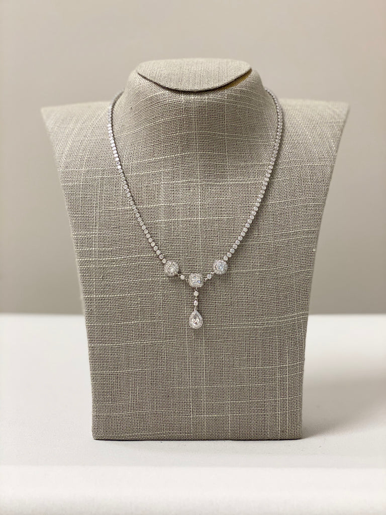 Triple Crystal Necklace - The Persnickety Bride