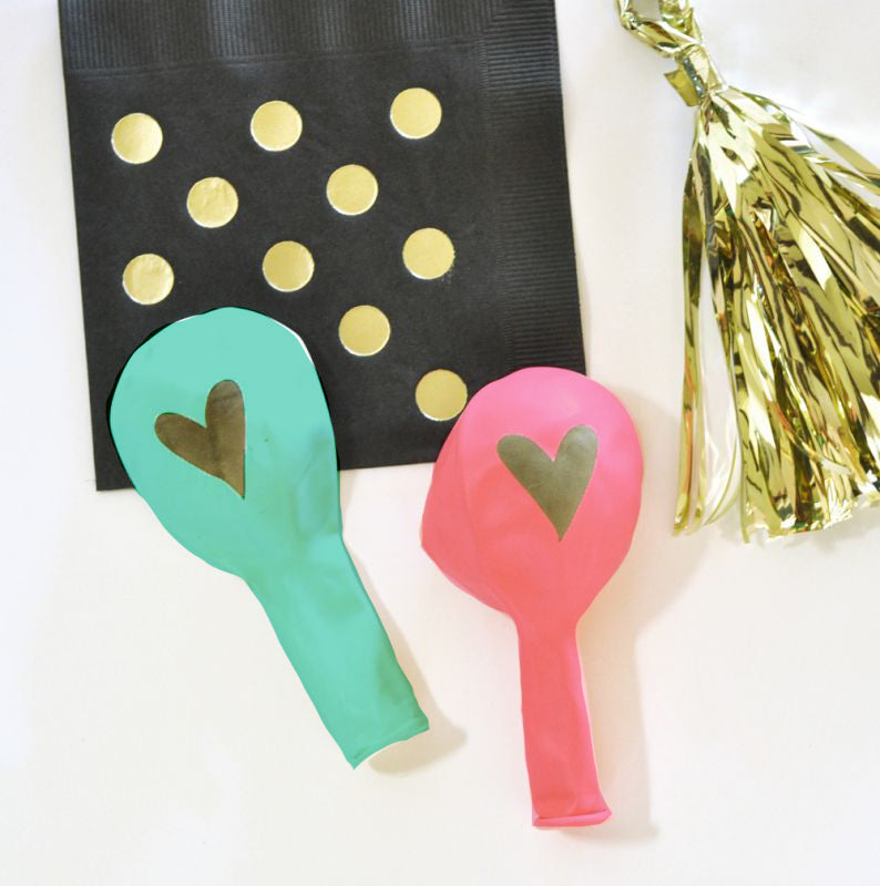 Gold HEART Party Balloons (set of 3) - The Persnickety Bride