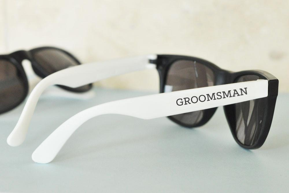 White Groom and Groomsman Sunglasses (Set of 6) - The Persnickety Bride