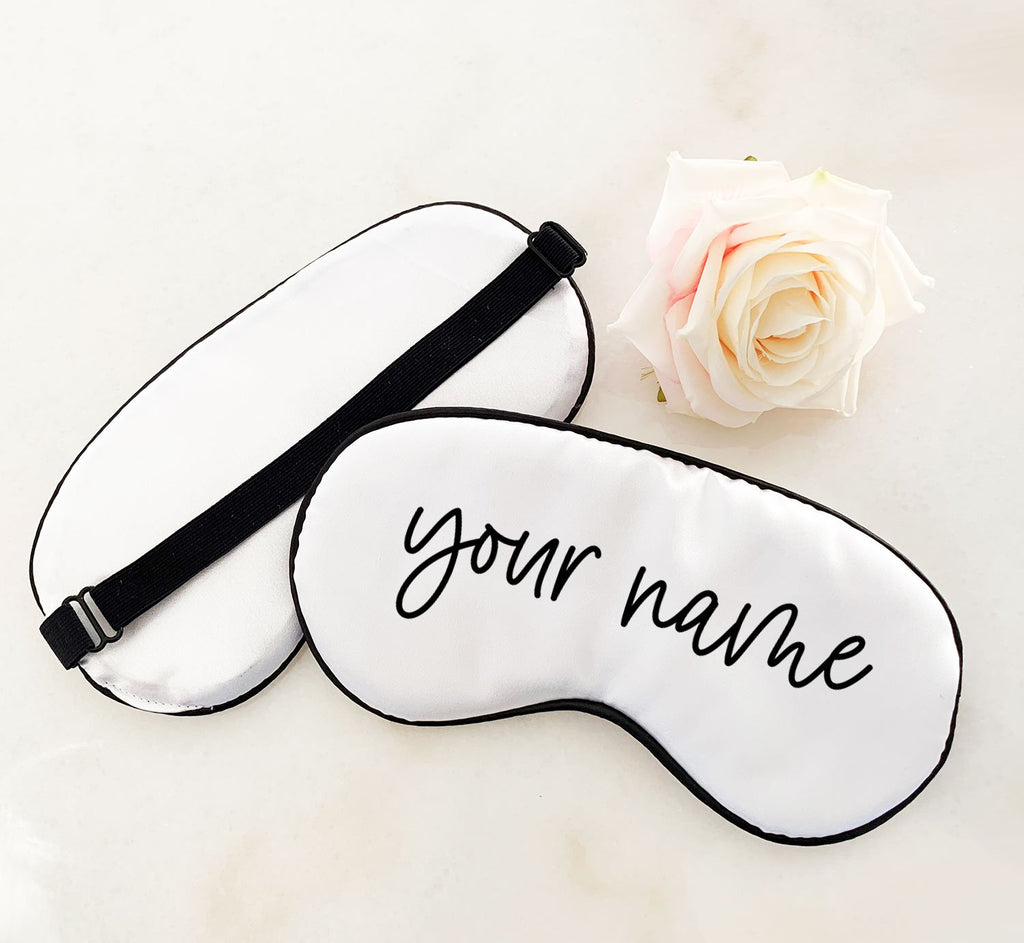 Personalized Sleeping Mask - The Persnickety Bride