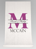 Bold Initial Aisle Runner - The Persnickety Bride