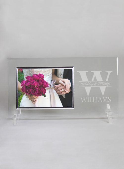 Bold Initial Glass Frame - The Persnickety Bride