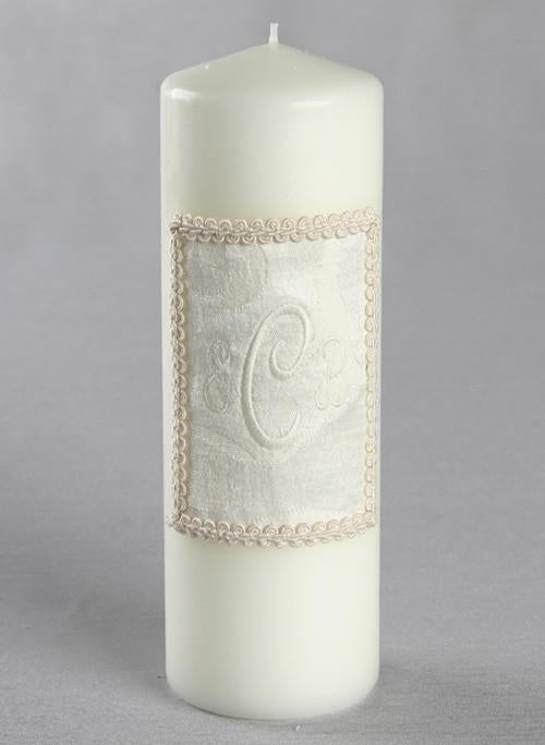 Brocade Monogram Unity Candle - The Persnickety Bride