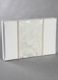 Brocade Monogram Guest Book - The Persnickety Bride