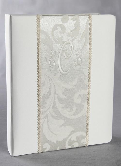 Brocade Monogram Memory Book - The Persnickety Bride