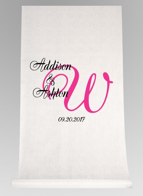 Elegant Names & Initial Aisle Runner - The Persnickety Bride