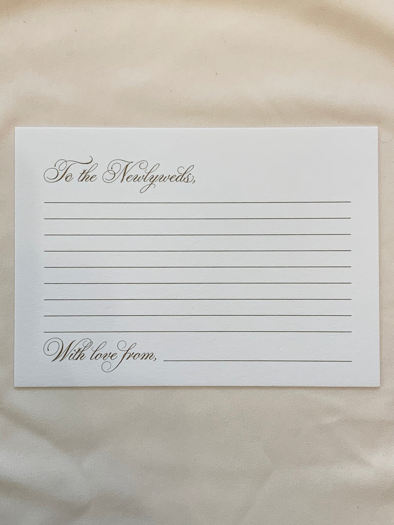 Unconditionally: Fill-in Card - The Persnickety Bride