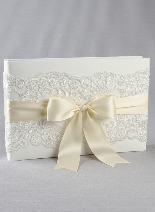 Chantilly Lace Guest Book - The Persnickety Bride