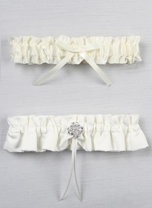 Garbo in Satin Garter Set - The Persnickety Bride