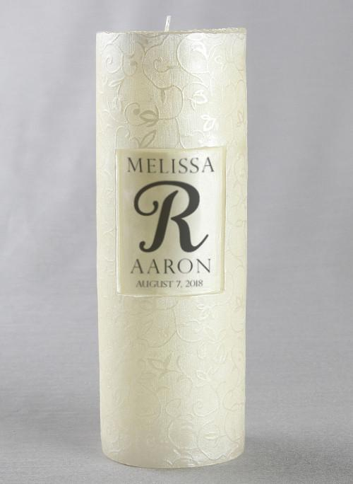 Personalized Scroll Candle - The Persnickety Bride