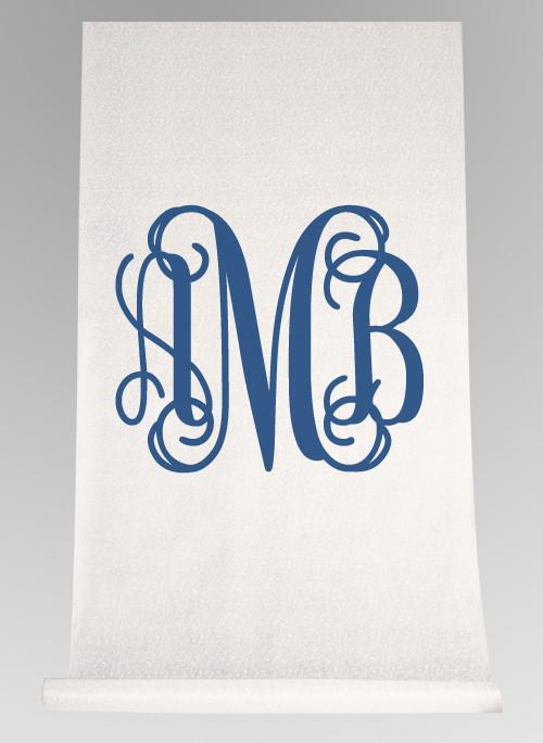 Monogram Aisle Runner - The Persnickety Bride