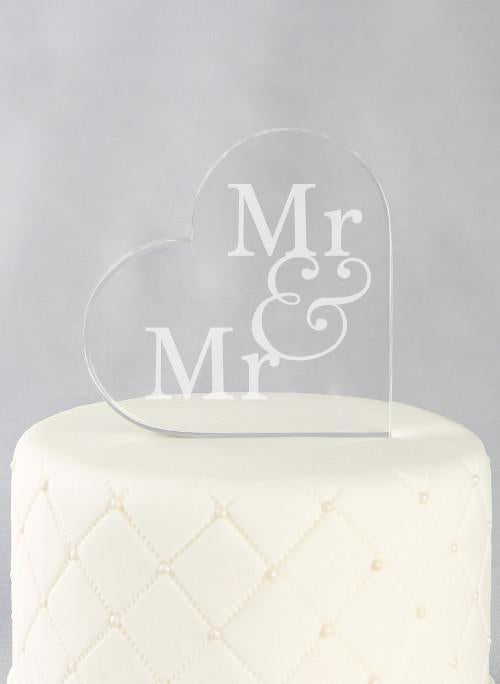 Acrylic Heart Cake Topper - The Persnickety Bride