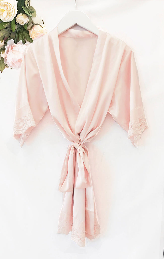 Personalized Child Satin Lace Robe