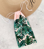 Personalized Palm Leaf Robe Pouch - The Persnickety Bride