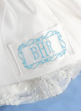 Monogram Framed Border Dress Label - The Persnickety Bride