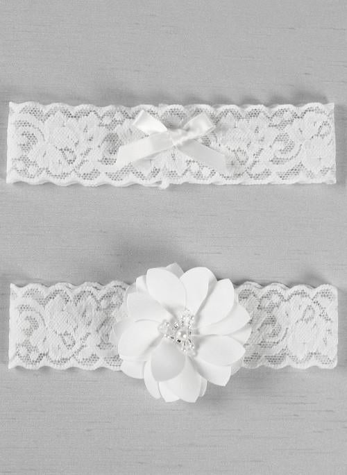 Chantilly Lace Garter Set - The Persnickety Bride