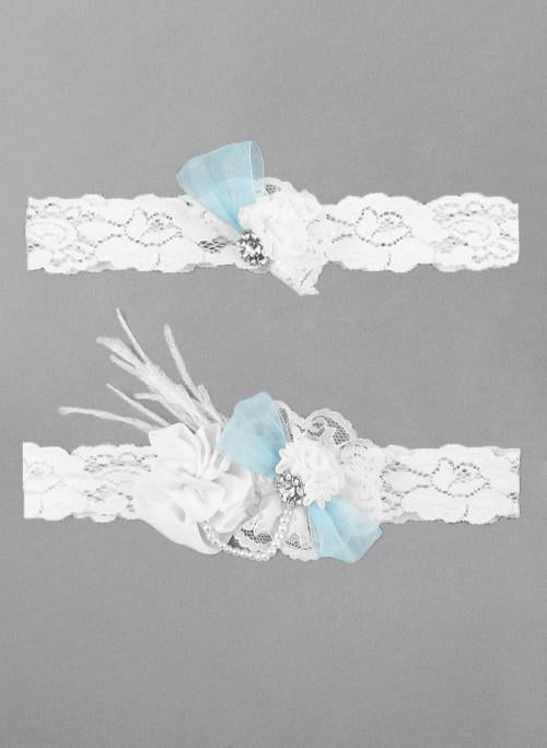 Something Blue Vintage Garter Set - The Persnickety Bride