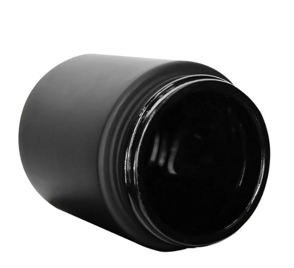 4oz Matte Black Opaque Screw top Jars- Child Resistant - Certified - MSN Packaging LLC