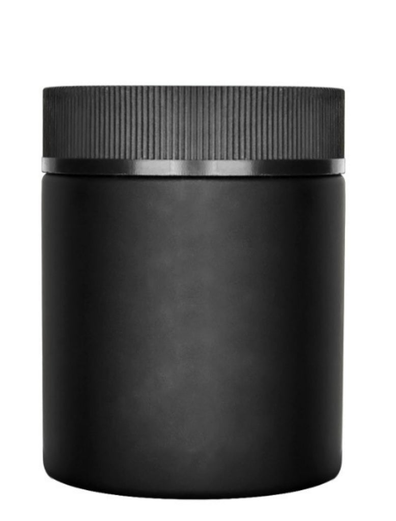 4oz Black Opaque Screw top Jars- Child Resistant - Certified - MSN Packaging LLC