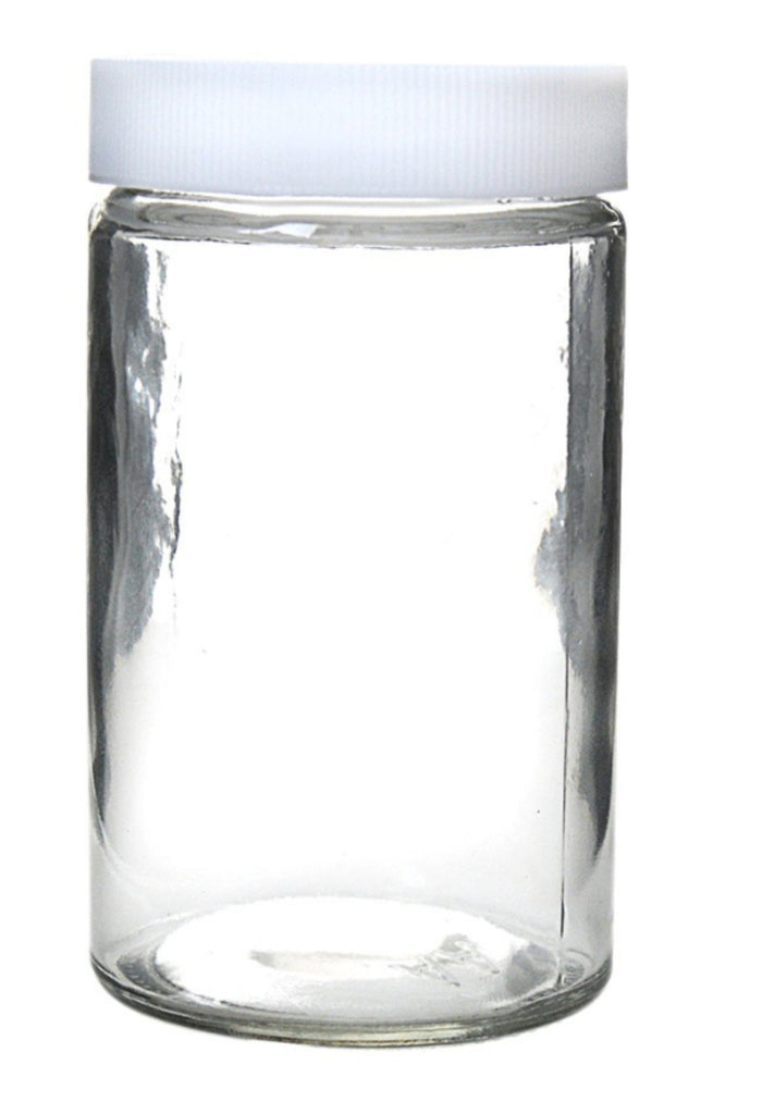 Glass Container 10oz Cannabis Herbal Screw Cap Jars - 180 Count - MSN Packaging LLC