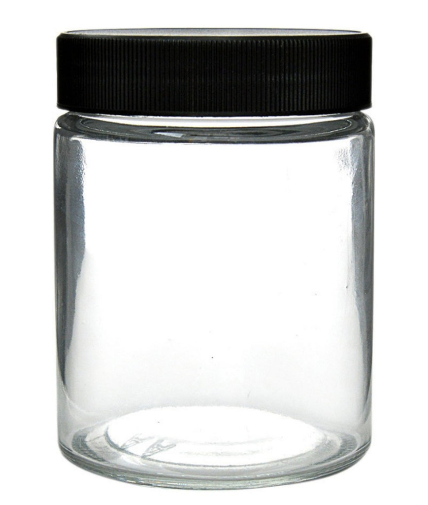 Glass Container 18oz Cannabis Herbal Screw Cap Jars - 120 Count - MSN Packaging LLC